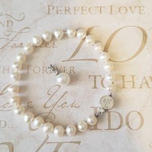 2/$25 ♡ I Am Love Pearl Bracelet & Pearl Pendant